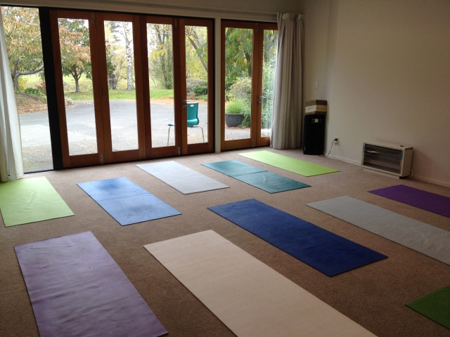 Yoga Studio all clean and ready for a new term