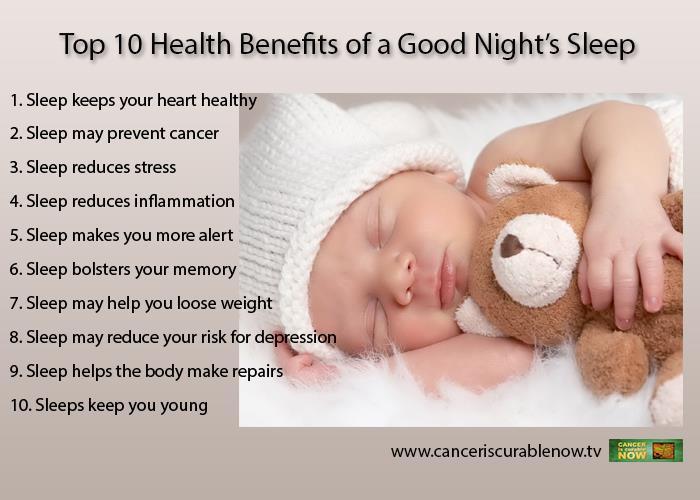 10 Benefits of a Good Nights sleep